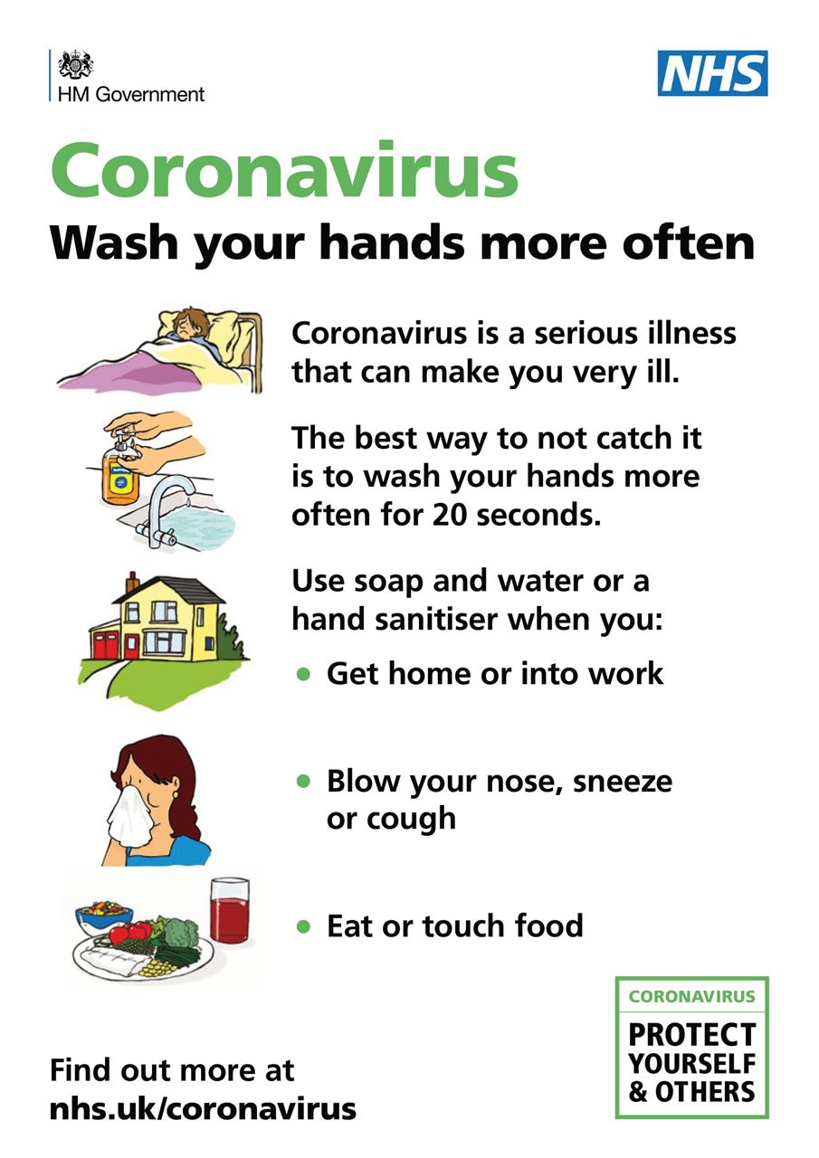 CoronaVirus - Hand Wash - Easy Read
